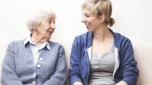 Home Care - Caregiver And A Nice Old Lady