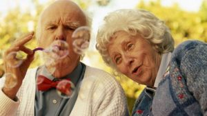 Best States For Seniors - Old Folks Blowing Bubbles