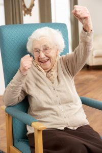 Home Care - Triumphant Old Lady