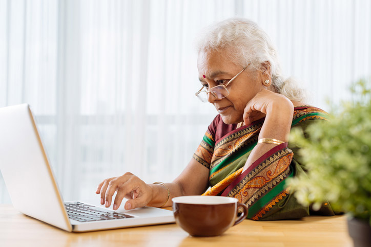 Technology For Seniors - Elderly Woman On A Laptop