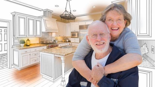 Aging In Place - An Elderly Couple Enjoying Their Dream Kitchen
