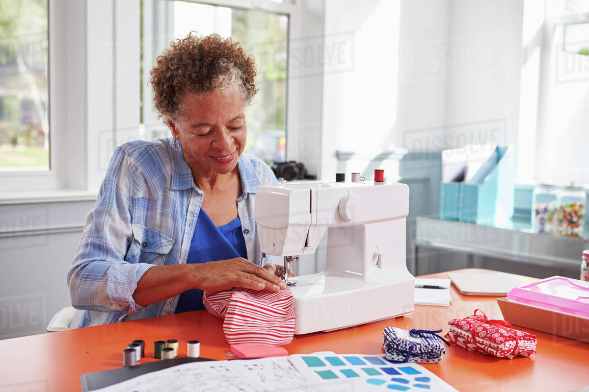 Jobs for Seniors - A Woman Sewing