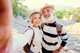 Senior Travel Destinations - A Retired Couple Taking A Selfie