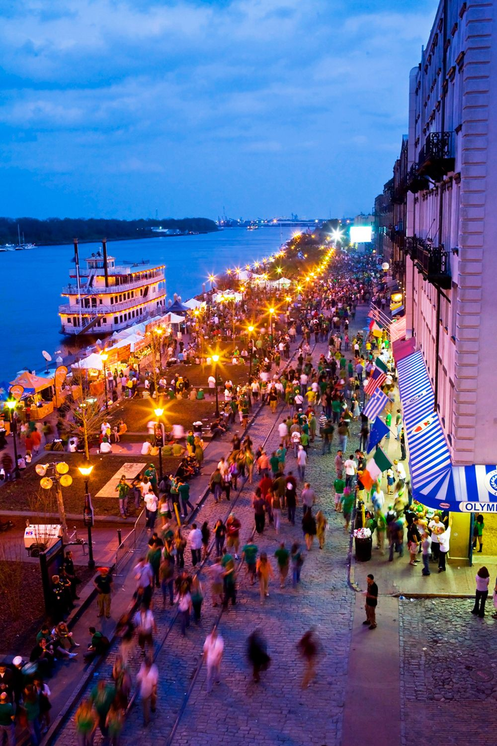 Senior Travel Destinations - Night Shot Of Savannah GA
