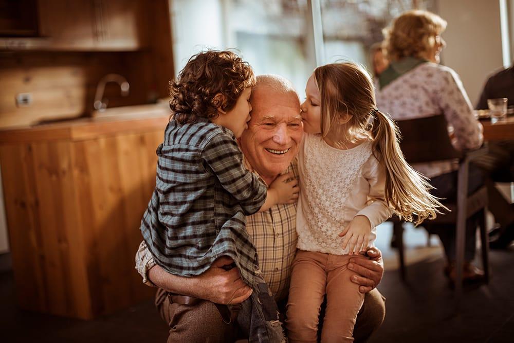 Depression In The Elderly - A Grandpa And His Grandkids