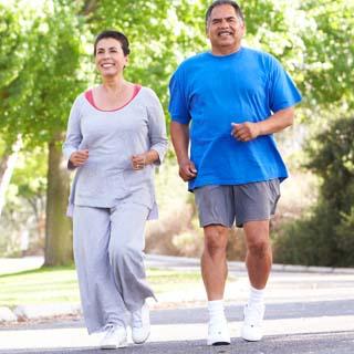 Diabetes In Seniors - An Older Couple Walking