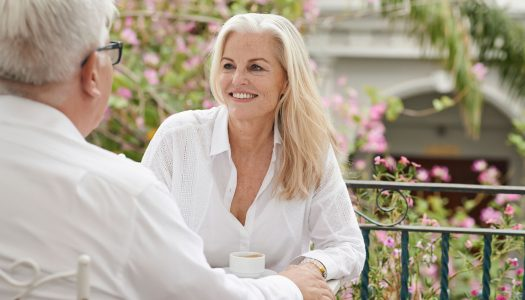 Senior Dating - Older Man And Woman On A Date