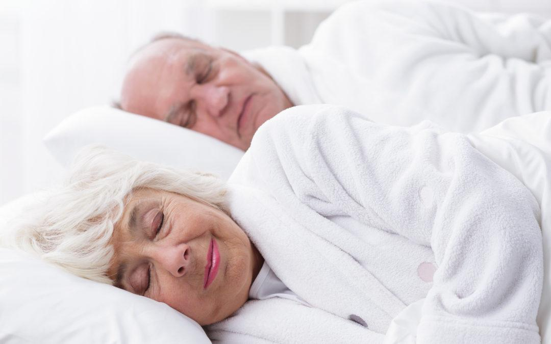 Sleep For Seniors - Elderly Couple Sleeping