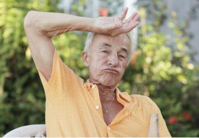 Summer Safety for Seniors - Man Wiping Brow