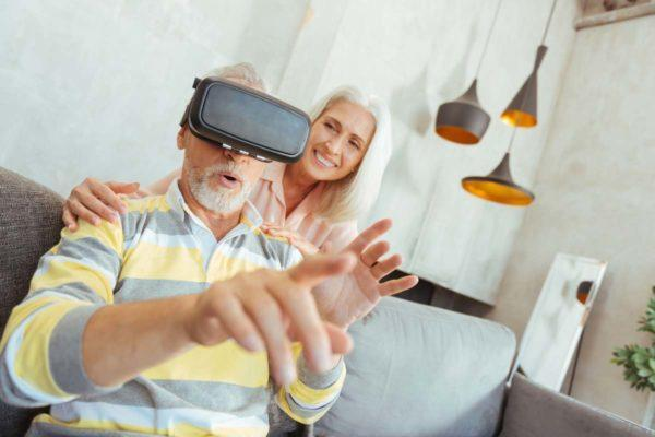 Technology For Seniors - Senior Playing With VR