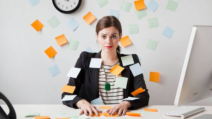 Elder Care Benefits - Woman Covered In Sticky Notes