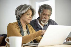 Home Care Services - An Elderly Couple At A Laptop
