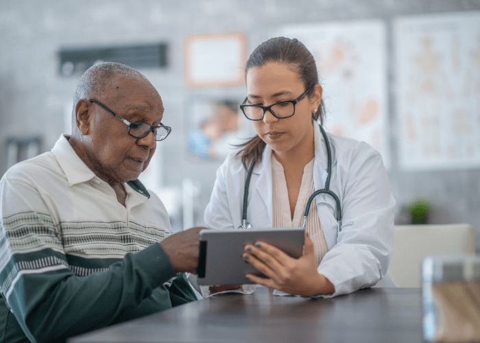older-man-talking-to-a-doctor-during-glaucoma-awareness-month