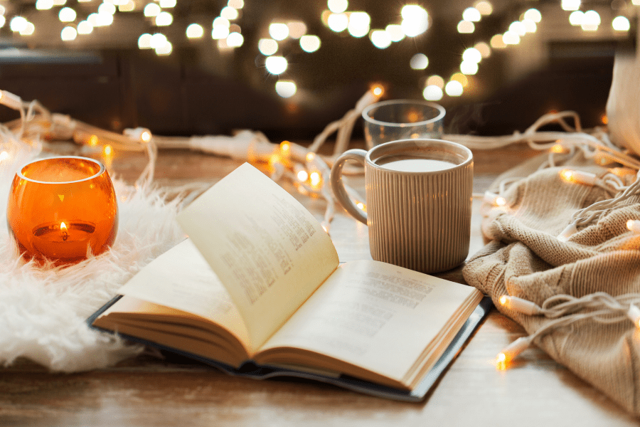 Reading and relaxing by candlelight is the most calming activities for seniors